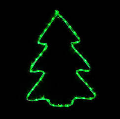 Светодиодный мотиф  Christmas tree 60*45см 7 flash зелен.