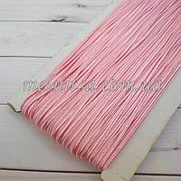 Шнур сутажный, цвет светло розовый, шир. 3мм