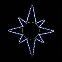 Светодиодный мотиф   Star 8 кон. 65*75см 8 flash белый