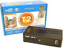 Тюнер T2 приставка з переглядом YouTube IPTV WiFi HDMI USB MEGOGO живлення 12В і 220В