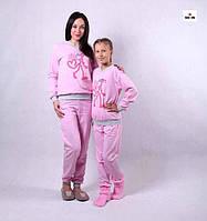 """Комплект теплих піжам рожевий """"Пантерка"""" р. 36-54"""