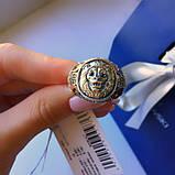 Мужское кольцо серебро с золотом Лео, фото 2