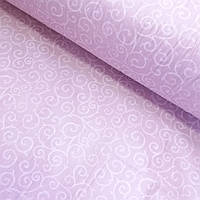 Сатин Люкс с тонким вензелем на розово-сиреневом с компаньоном, ширина 220 см, фото 1