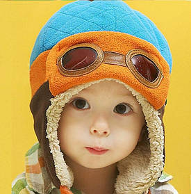 Шапка детская на маьчика утепленная зима