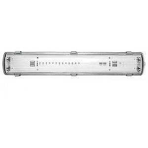 Корпус светильника IP65 для LED,L-2*600 мм, 672 Х 58 Х 77 ММ 9W