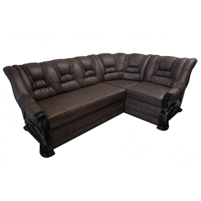 Угловой диван Гермес 2,6 коричневый Элизиум