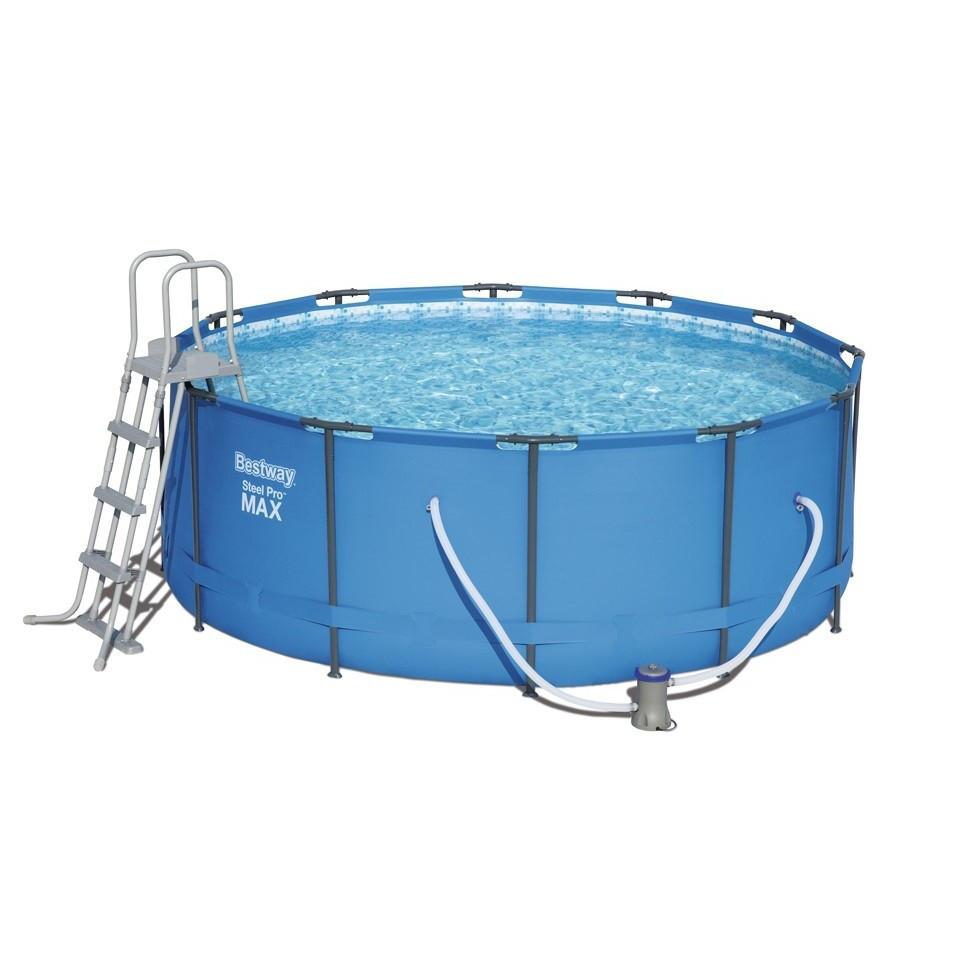 Каркасный бассейн Bestway 56438Ø 457 х 122 см, фильтр насос, лестница, тент