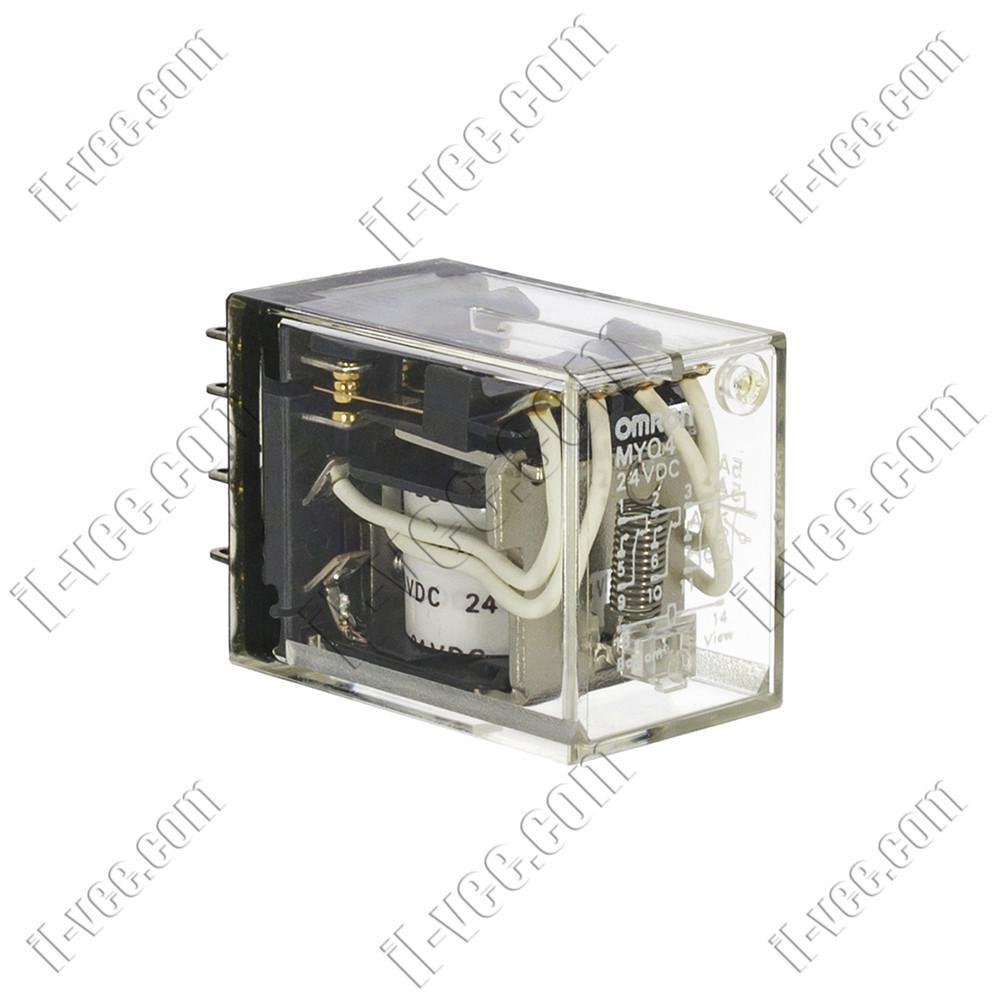 Реле Omron MYQ4 24VDC, 5A/220VAC, 5A/24VDC