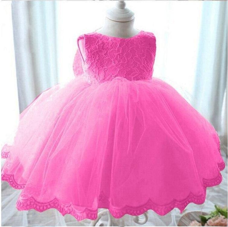 Платье нарядное детское  на девочку с бантом малиновое 1-6 лет