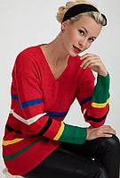 Женский вязаный удлиненный свитер. S- L Размер., фото 1