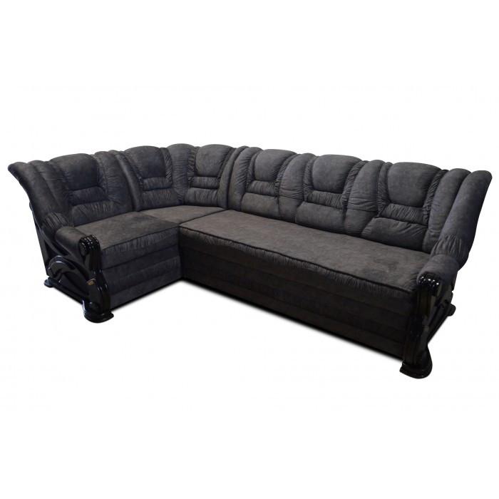 Угловой диван Гермес 2,6 темно-серый Элизиум
