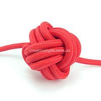 Красный провод в текстильной оплетке (2х1,5)