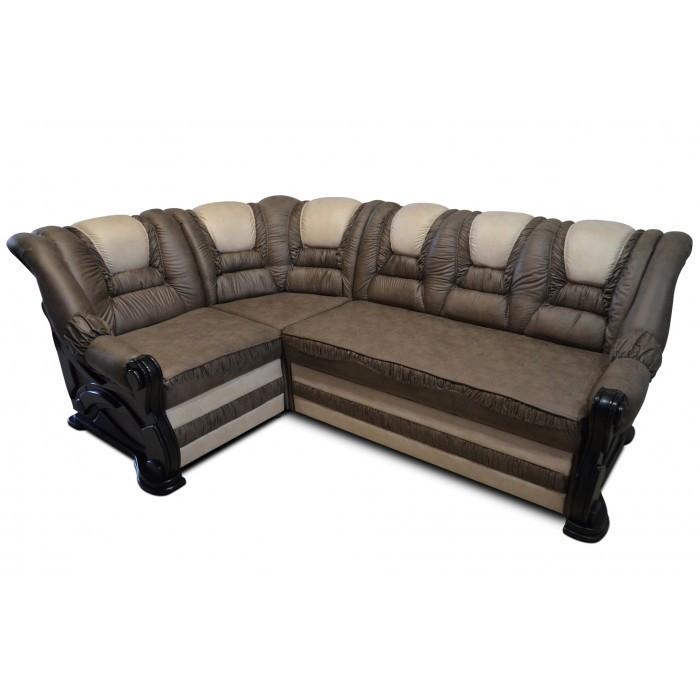Угловой диван Гермес серый с белым Элизиум