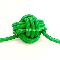 Зеленый провод в текстильной оплетке (2х0,75)