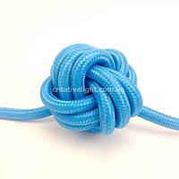 Голубой провод в текстильной оплетке (2х0,75)