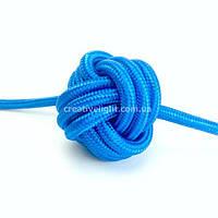 Синий провод в текстильной оплетке (2х1,5)