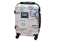 Чемодан с ярким принтом малого размера на 4-х колесах Bagia 002, фото 1