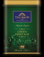 "Зелёный чай Thurson Green Heritage ""Зелёное Наследие""  300 гр, ж/б"
