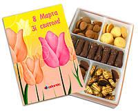 Набор сдобного печенья в корпоративной коробке - сладкий подарок на 8 Марта, фото 1