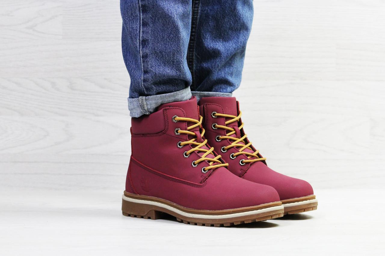 Бордовые ботинки Timberland, женские (зима) (Реплика)  продажа, цена ... 3f3beb04741