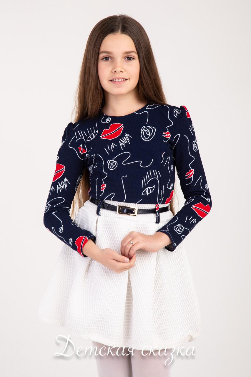 Детское нарядное платье  с юбкочкой ткань вафелька возраст от 8 до 11 лет