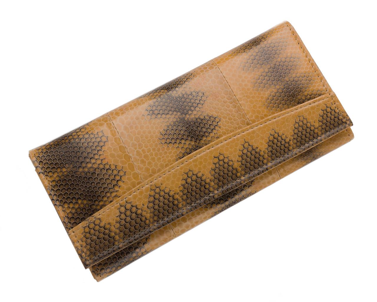 Кошелек женский  Ekzotic Leather из натуральной кожи морской змеи Коричневый (snw 41_1)