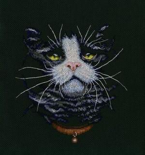 Набір для вишивки хрестом RTO M576 «Котячий фаворит»