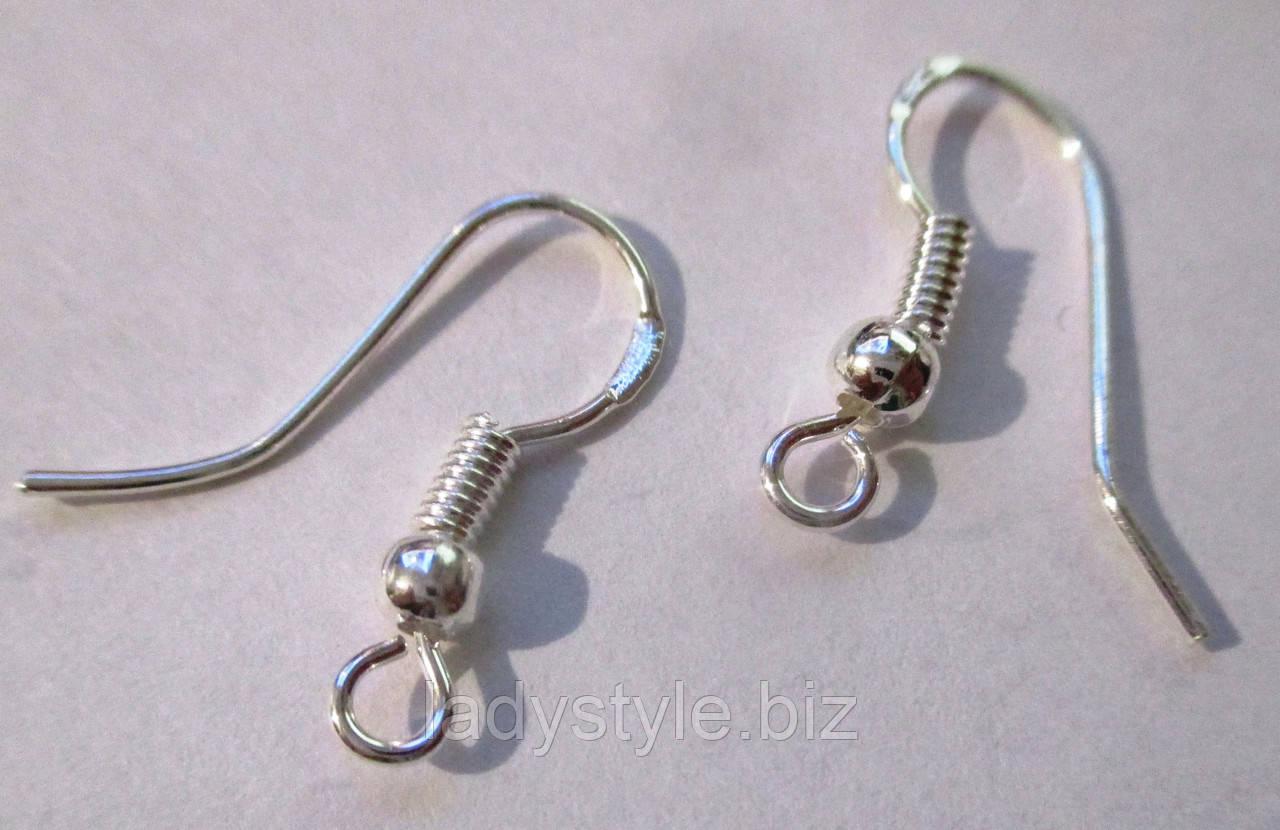 Застежка крючок для сережек (серебро) от студии LadyStyle.Biz