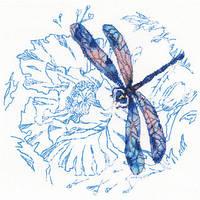 Набор для вышивки крестом RTO M70023 «Танец стрекоз»