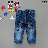 Теплые джинсы для девочки. 80, 92, 98, 104 см