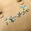 Рюкзак женский кожзам цветы flower Коричневый, фото 4
