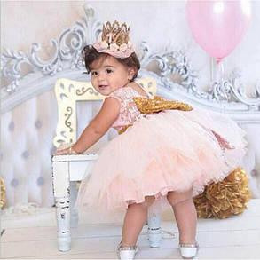 3fe2c30f59d26b1 Платье нарядное детское на девочку с бантом розовое 1-5 лет: продажа ...