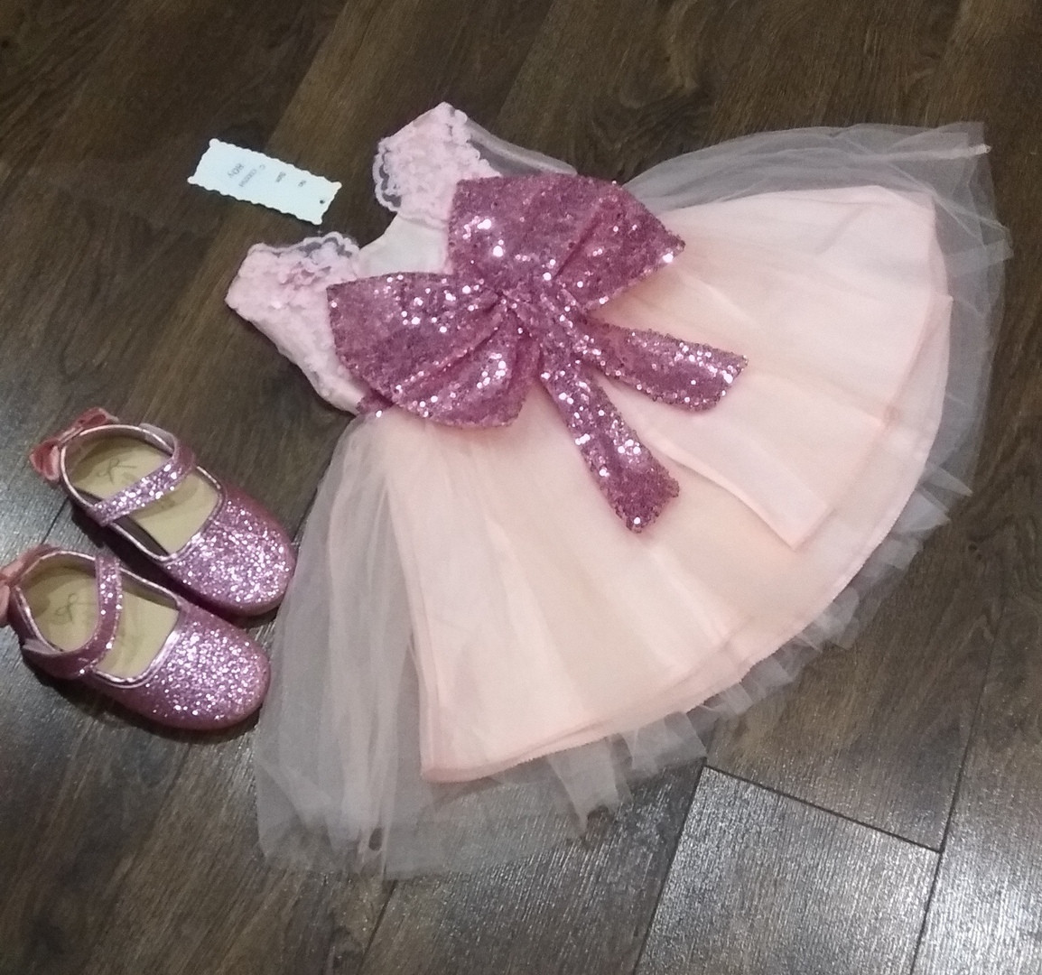 787aaa0e485075b Платье нарядное детское на девочку с бантом розовое 1-5 лет - AdelinaStyle  Интернет-