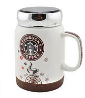 Чашка StarBucks sh 025-1, Кружка StarBucks кофейная, Чашка для кофе, Керамическая кофейная чашка, фото 1