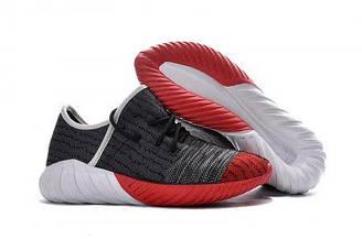 Мужские кроссовки Adidas Yeezy Boost 550 Grey Red | Адидас буст серые