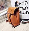 Рюкзак женский сумка трансформер Daily Woman Коричневый, фото 7