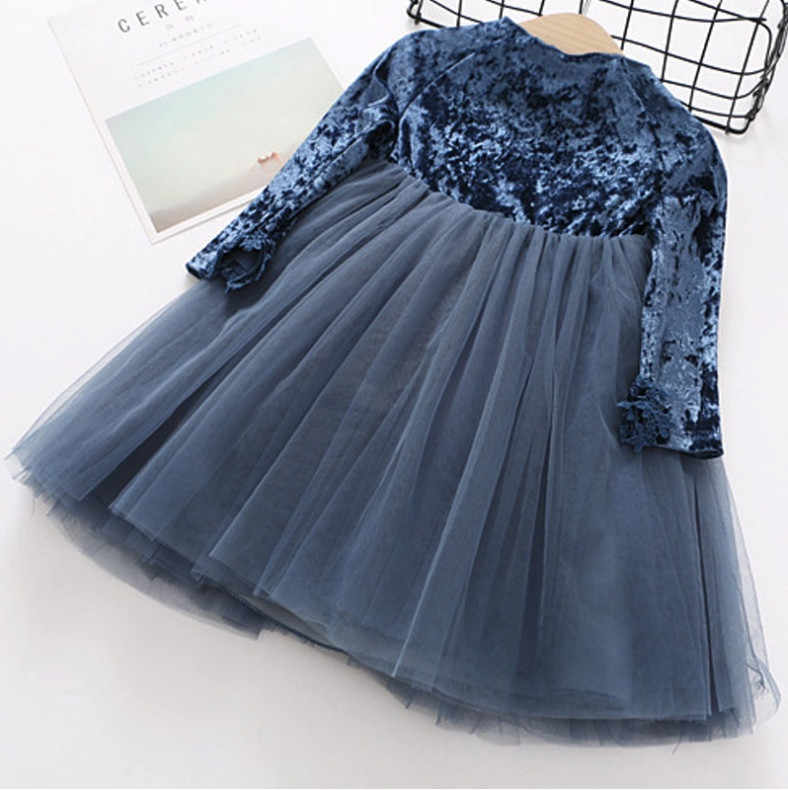 Платье нарядное детское  на девочку велюровое