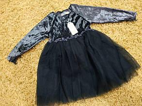 Платье нарядное детское  на девочку велюровое, фото 2