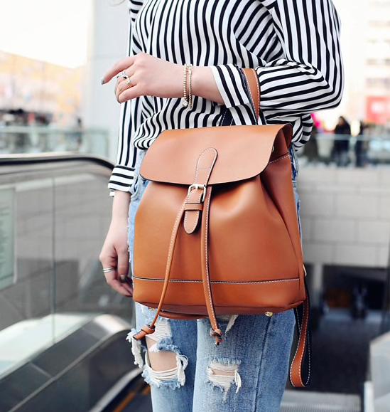 Рюкзак женский сумка трансформер Daily Woman Коричневый