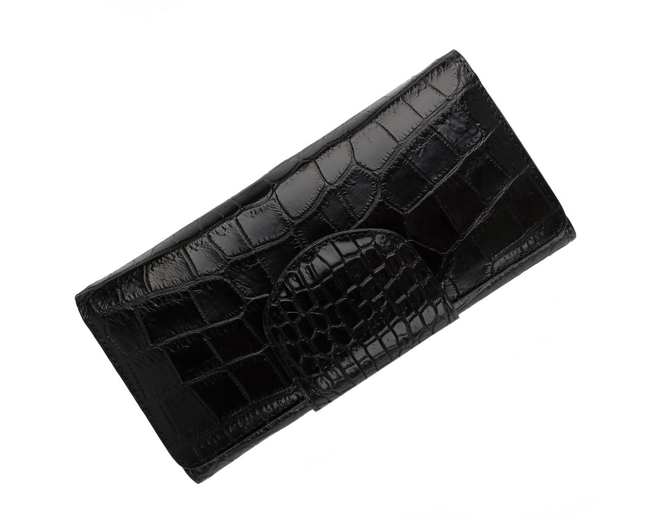 Кошелек из кожи крокодила Ekzotic Leather  Черный  (cw 65_1)