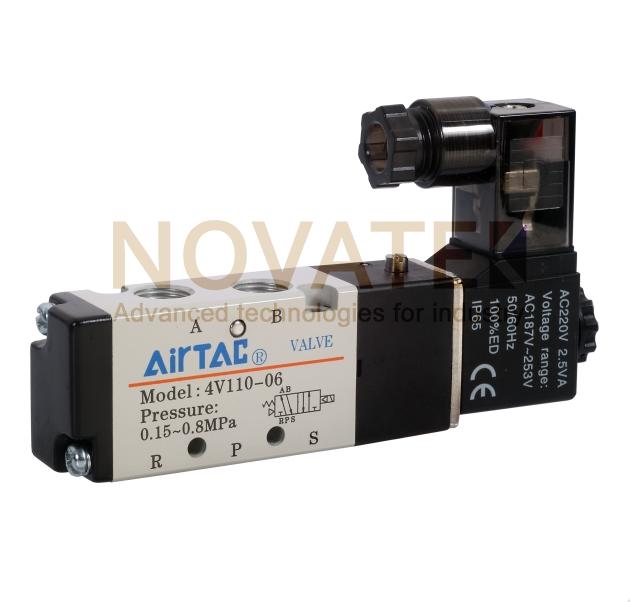 Распределитель 5/2  M5 4V110M5A 220V AC AirTAC