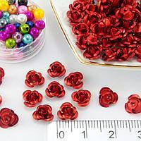 Розы металл 7 мм красный (35-40шт)