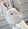 Рюкзак женский кожзам Crocodile print с кисточкой Серый, фото 3