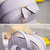 Рюкзак женский кожзам Crocodile print с кисточкой Серый, фото 6