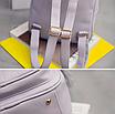 Рюкзак женский кожзам Crocodile print с кисточкой Серый, фото 7