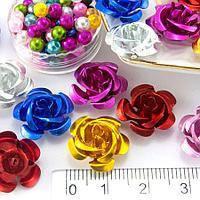 Розы металл 15 мм ассорти (35-40шт)