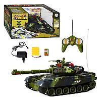 Танк радиоуправляемый игрушечный 936495 R/9993, аккум, 2 цвета, в кор-ке, 38,5-21-8,5см