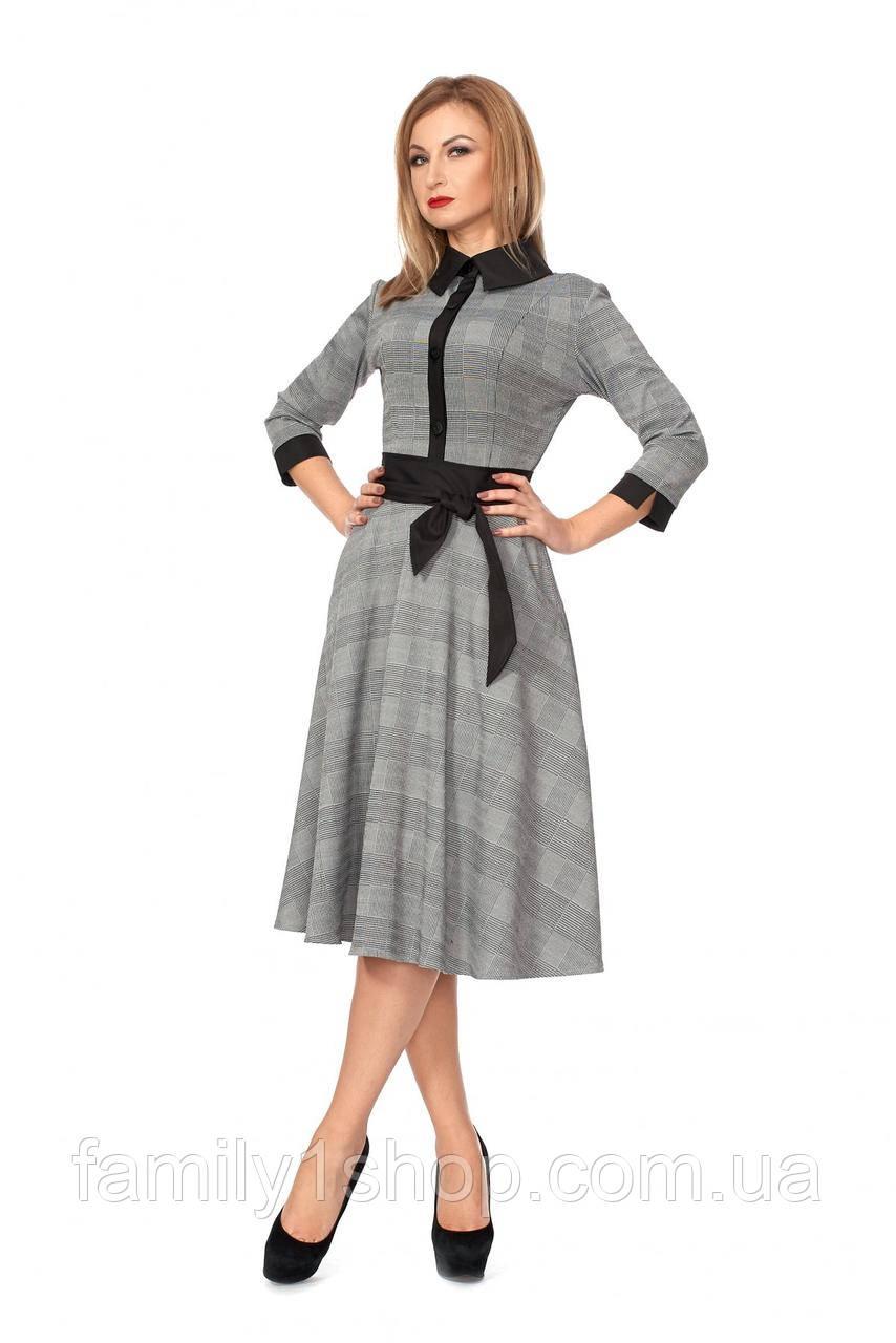 f77c604001055fc Женское деловое офисное платье в клетку ., цена 430 грн., купить в ...