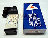 """Розподільник 5/2 1/4"""" 4V31008AG 220V AC AirTAC, фото 3"""