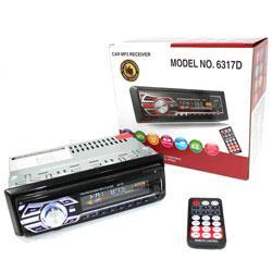 Автомагнитола 1DIN MP3-6317BT RGB Bluetooth